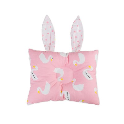 Silk Cotton Infant Styling Pillow with Rabbit Shape, Fit the Baby's Head for Four Seasons Universal