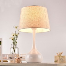 Night Lights LED Multifunctional Linen Lampshade Reading Lamp E27 Screw Touch Switch Table Lamp Bedside Lamp for Home Decor