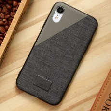 Creative Phone Case Modern Soft PU Cloth Back Case Cover Phone Protective Shell for iPhone 7or 8, 7 or 8 Plus, X or XS Max