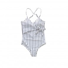 Women Sexy Swimwear High Waisted One Piece Striped Swimsuit Backless Front Bow Tie Bikini Bathing Suits 2019 New Hot