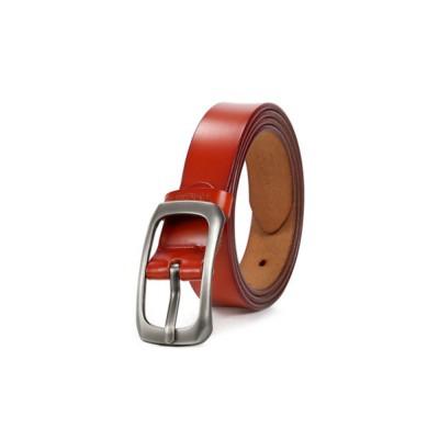 Women Genuine Cowhide Leather Belt Waist Skinny Dress Belts Solid Pin Buckle Belt For Jeans Pants