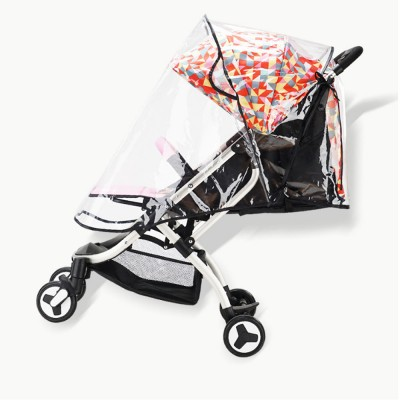 Baby Stroller Rain Cover Waterproof Windproof Protection Travel-Friendly Breathable baby cart umbrella for Outdoor Use Transparent