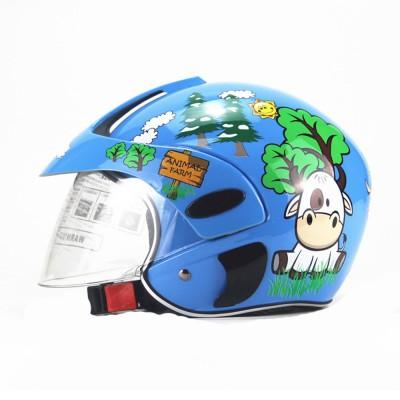 Children Half-head Helmet Cloth New Material Hat High-grade Buffer Helm Cute Cartoon Pattern Headgear Safe for Girl Boy Riding Anti-fall Cap