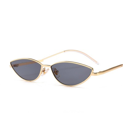 Metal Frame Cat Eye Sunglasses for Women, UV Protection Anti-glare Sunglasses Light Weight HD Lady Sunglasses