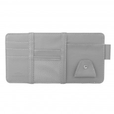 Card Bag PU Leather Material with Pockets Elastics Straps Collection for Store Cards Cash on Sun Shade of Car Storage Bag
