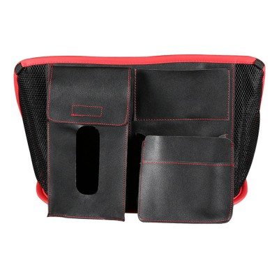 Carriage Bag for Mammy, Baby, PU Material Big Capacity with Pockets Velcro Stability Cross-border Storage Net Bag for Store Daily Items Car Collection Bag