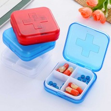 Portable Small Pill Organizer Case, Moisture-proof Pill Box for Vitamins, Fish Oil, Supplements Medication Medicine Case
