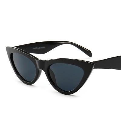 Plastic Frame Cat Sunglasses for Women, Narrow Frame Sun Glasses UV400 Protection Light Weight Lady Sunglasses 2019