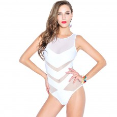 Sexy One Piece Swimsuits for Women, High Waisted Mesh Ruched Cutout Slim fit Swimwear  Beach, Ocean, and Pool