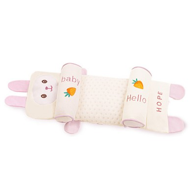 Delicate Baby Pillow with Cute Animal Pattern, Flat Head Prevention Baby Pillow, Four Layered Design 16 cm Adjustment Removable Baby Pillow