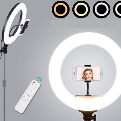 Selfie Desktop Ring Light Dimmable Ring Light For Youtube Live Streaming Portrait Photography Led Round Fill Light 12 Inches Lighting Studio