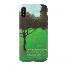 Green Tree Painting Phone Back Cover, Slim Bumper Phone Case for iPhone 6 6s, iPhone 6 plus 6 plus, iPhone 7 8, iPhone X XS, iPhone XS Max, iPhone XR