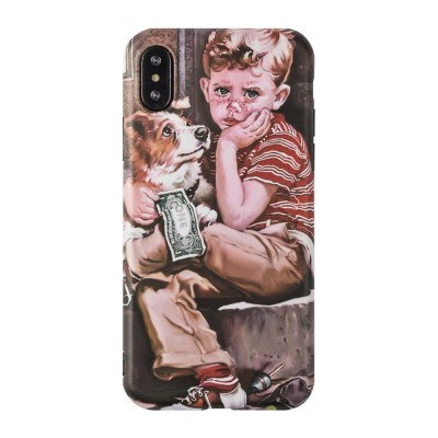 Artwork Phone Case, Soft TPU Phone Back Case, Anti-Scratch Anti-Finger Protective Cover for iPhone 6 6s, iPhone 6plus 6s plus, iPhone 7 8, iPhone X XS, iPhone XS Max, iPhone XR