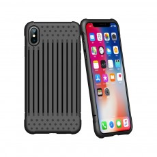 Stripe Phone Protective Case, Anti-fall Back Cover Anti-Scratch Shell for iPhone X, XS with Venting Holes