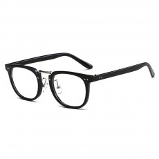 Oval Round Metal Eyeglasses Frame, Unisex Retro Glasses with Clear Replaceable Lens Spectacles