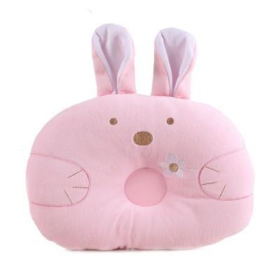 Soft Baby Pillow Anti-headrest, Comfortable Pillow for 0-12 Months Baby, Breathable Baby Pillow, Baby Cotton Pillow, Candy Rabbit Pillow