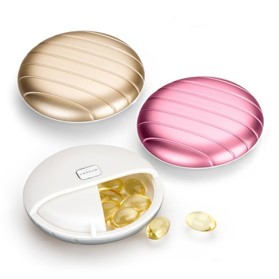Round Pill Case Holder Easily Fit Portable Cases Daily Use Medicine Organizer for Vitamin Supplements
