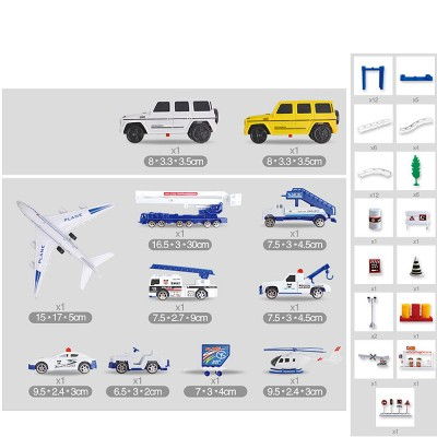 DIY Aircraft Model Playset Airport Assembled Toys Developmental Electronic Track Toy for Kids