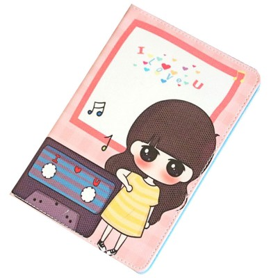 Universal Tablet Case PU Leather Full Protection Flip Cover with Cute Pattern Compatible for Xiaomi Mi Pad 1