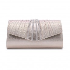 Shiny Clutch for Wedding Evening Party, Elegant Clutch with Chain for Ladies, Girls Shoulder Bag