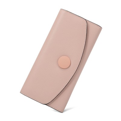 Elegant Purse for Women, Leather Slim Clutch wiith Trifold Design, Ladies Credit Card Holder Organizer Purse