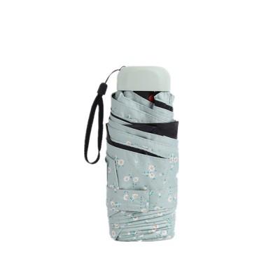 Mini Umbrella with Waterproof Case, Compact Umbrella Folding Pocket Umbrella Perfect for Outdoors