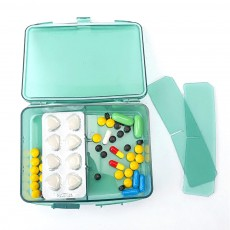 High Capacity Pill Box with Multiple Compartments, PP Safe Pill Case Accessories Organizer for Patient, Kids, Elderly Pill Box