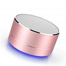 Brass Wireless Subwoofer with Mini Size, Bluetooth Speaker with Stable Connection and Breathable Light Car Speaker