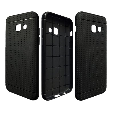 Woven Silicone Phone Case, Ultra Slim Soft Phone Case for 2017 Samsung A3, Flexible & Durable Protective Phone Back Cover