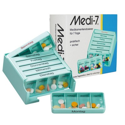Medi-7 Germany Style Weekly Pill Case Moisture-Proof Portable Pill Organizer