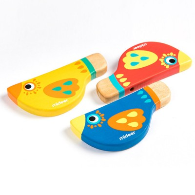 Wood Bird Shape Whistle with Colorful Healthy Paint, Play Toys for Children More than 2 Years, Smooth Corners Educational Toy