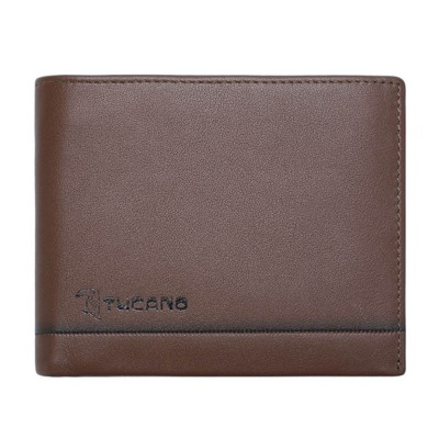 TUCANO Short Wallet for Men, Retro Cow Leather Business Men Coin Wallets Fashionable Clutch