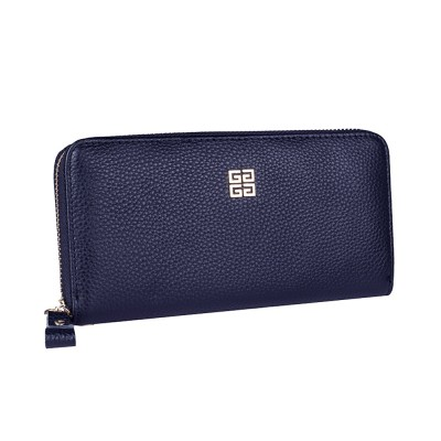 PU Leather Wallet for Men Youth, Soft Leather Casual Simple Europe Style Clutch with Zipper, ID Card Holder, Long Clutch Handbag