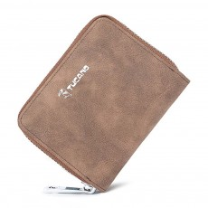 Mini PU Leather Purse, Short Purse with Zipper, Card Slots, Multifunctional Purse for Coins, Cash, Credit Cards