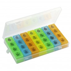 Monthly Pill Box Large-Capacity 21, 28 Compartments Portable Pill Case Monthly 7 Day Medicine Pill Organizer Box