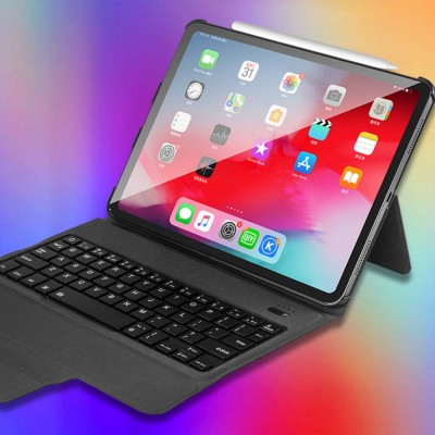 Ultra thin Bluetooth Wireless Waterproof Keyboard Case Cover for Mobile Tablets