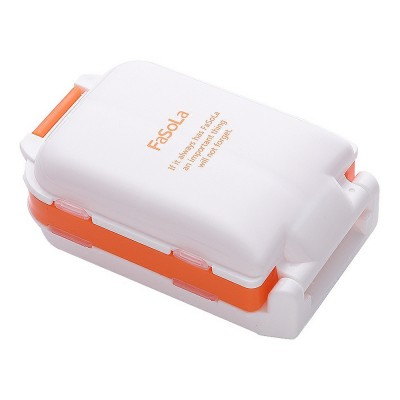 Mini Medicine Box Plastic Creativity 7 Compartments Portable Large Capacity Pill Box for Travel Outdoor Tablet Container