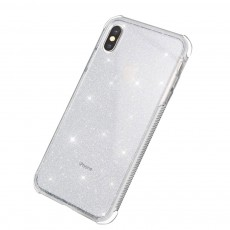 Semi-transparent Shiny Style iPhone Case TPU & TPE Shatterproof Soft Protective Case for iPhone XR, iPhone XS MAX, iPhone X or XS, iPhone 7 plus or 8 plus, iPhone 7 or 8, iPhone 6 or 6s Plus