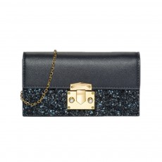 Women Long Purse Vintage Ladies PU Leather Wallets Sequin Handbags Slim Clutch Bag Make Up Bag Banquet Bag