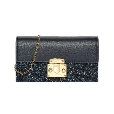Women Long Purse Vintage Ladies PU Leather Wallets Sequin Handbags Slim Clutch Bag Make Up Bag Banquet Bag