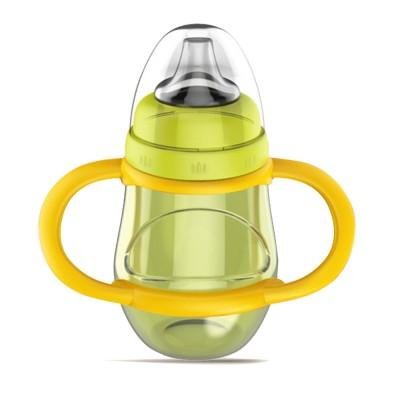 Anti-choke Baby Feeder with Handle for 6-18 months Babies, Anti-leak Food Grade Liquid Silica Gel Baby Nursing Bottle Baby Feeding-bottle