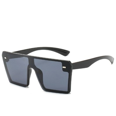 Frameless Unisex Sunglasses Gradient Colors Anti-Glare Lens with Comfortable Nose Pad UV Protection Sunglasses
