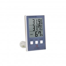 Electronic Thermometer, Indoor Outdoor Digital Fish Tank Thermometer Temperature Humidity Gauge with Big LCD Screen