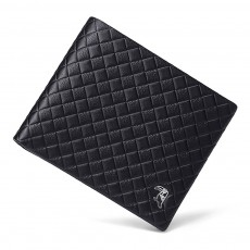 Fashion Men' s Wallet Short Money Card Holder Business Genuine Leather Wallet, Simple Rhomboids Folding Men' s Wallet