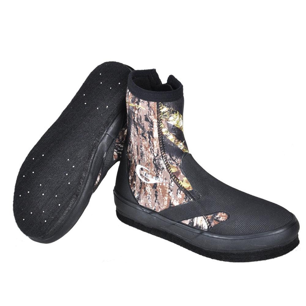 Anti-slip Fishing Boots for Men Women, Anti-scratch Fishing Shoes for Swimming, Wading, Fishing, Spring, Autumn, Winter Essential Felt Sole Neoprene Flat Wading Shoe