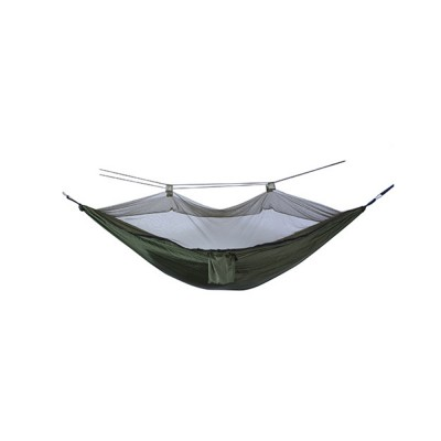 Nylon Capming Hammock with Nylon Straps, Carabiners, Windproof Rope, Portable Lightweight Hanging Bed Hammocks for Travel, Beach