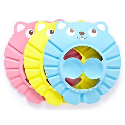 Baby Bathing Cap with Ultra-soft EVA Rubber, Cute Carton Model Shower Shampoo Hat for Baby Children Toddlers Ear Eye Protection Cap