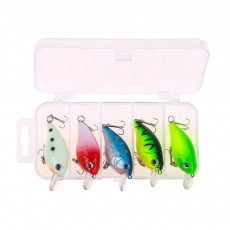 Crank Bait for Outdoor Fishing, Bionic Fishing Lure Kit 5 Pieces Per Package, Colorful Noctilucence Fishing Bait Suite Fishing Gear