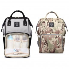 Multifunctional Canvas Baby Diaper Bag, Delicate Luxury Mummy Maternity Nappy Travel Messenger Backpack