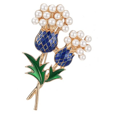 Elegant Brooch Oil-spot Glaze Pearl Decoration Pineapple Tree Breastpin, Delicate Fine Shiny Durable Alloy Brooch Clothes Scarf Ornament